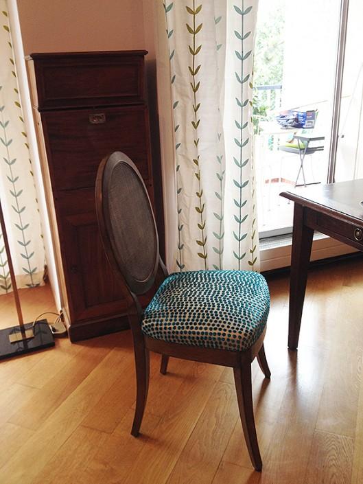 Armonisation rideau et chaise