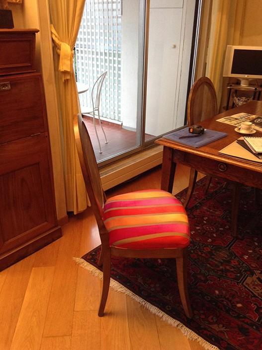 Tapisserie du chaise avant