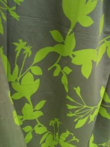 Rideau bicolor style végétal