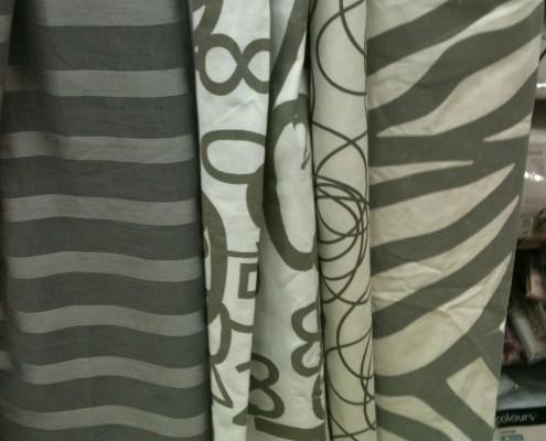 Rideaux bicolor à motifs