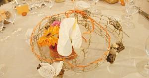 Décoration table pour un mariage