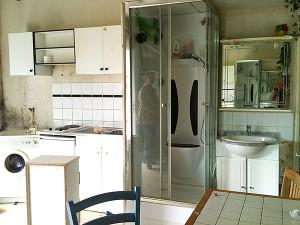 Cuisine, salle de bain avant travaux